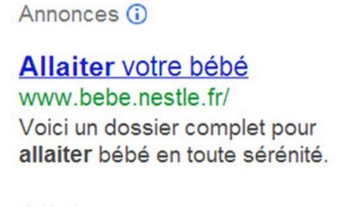 Guigoz et Nestle--Nestle only